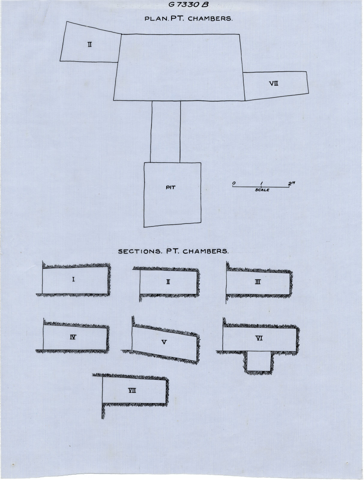 Maps and plans: G 7330, Shaft B