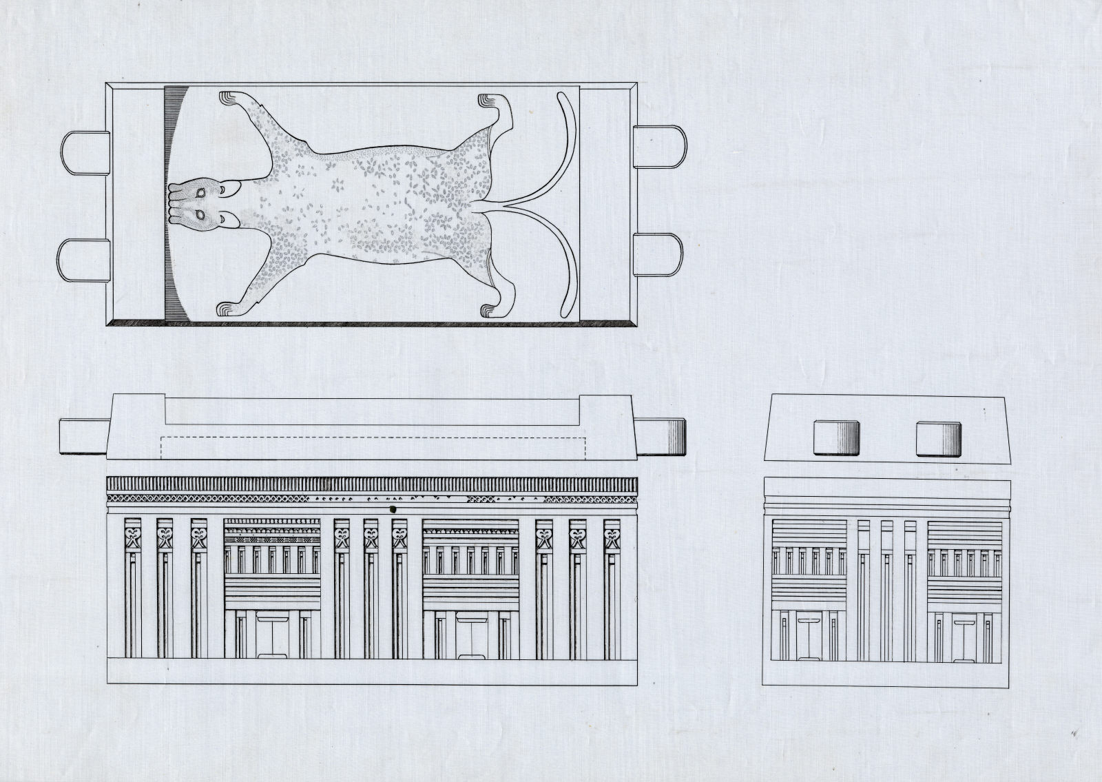 Drawings: G 7340, Shaft X: sarcophagus