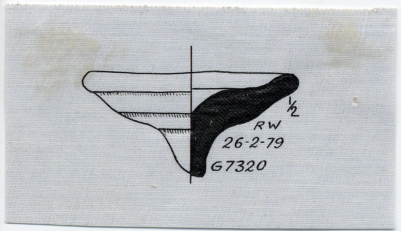 Drawings: pottery dish from G 7320