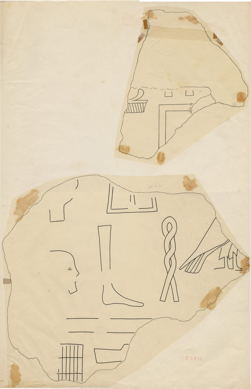 Drawings: fragments of relief from Street G 7400 and G 7410-7420