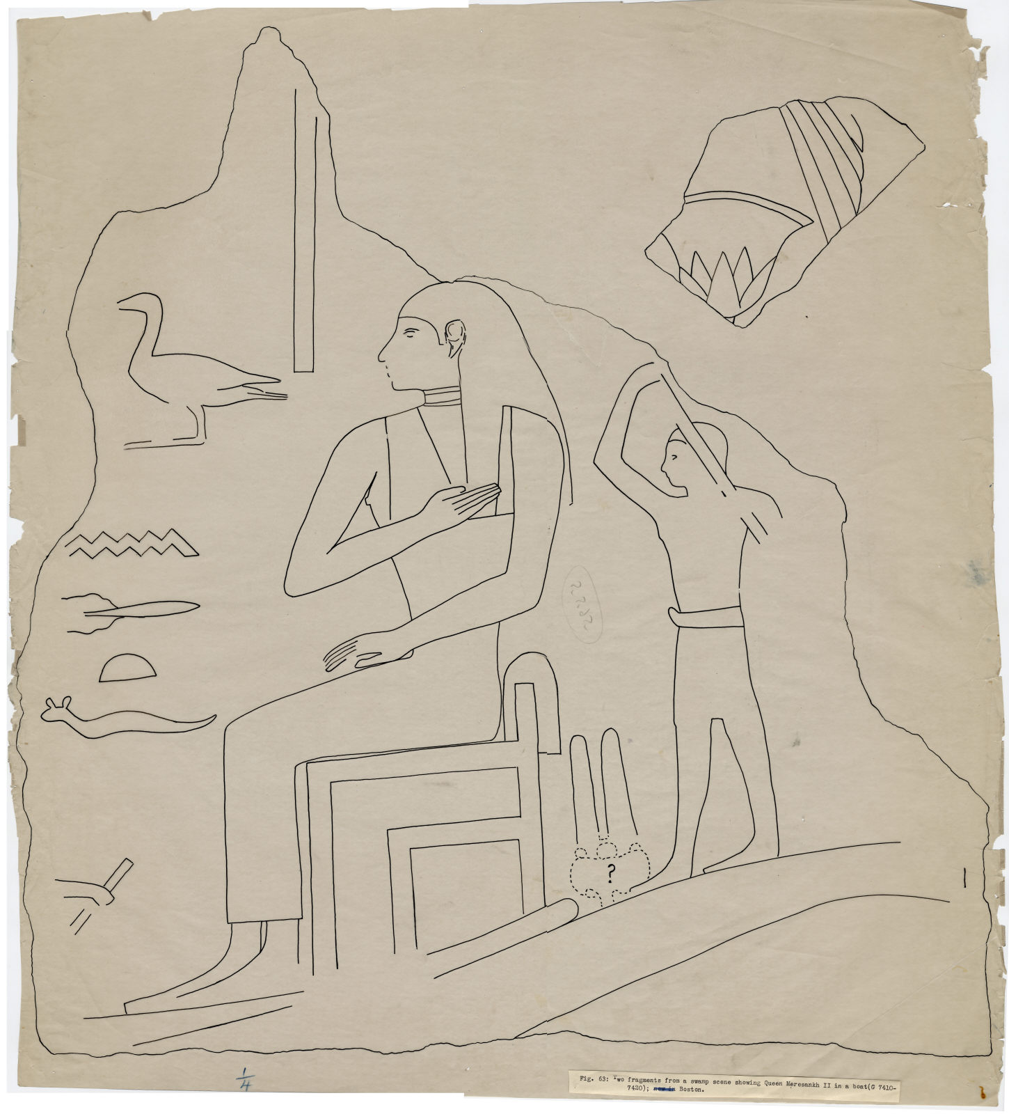 Drawings: G 7410-7420: fragments of relief