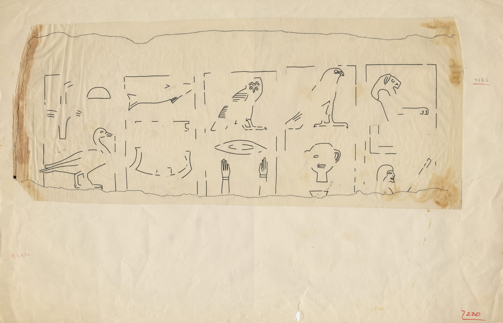 Drawings: G 7210-7220: G 7220: block of relief