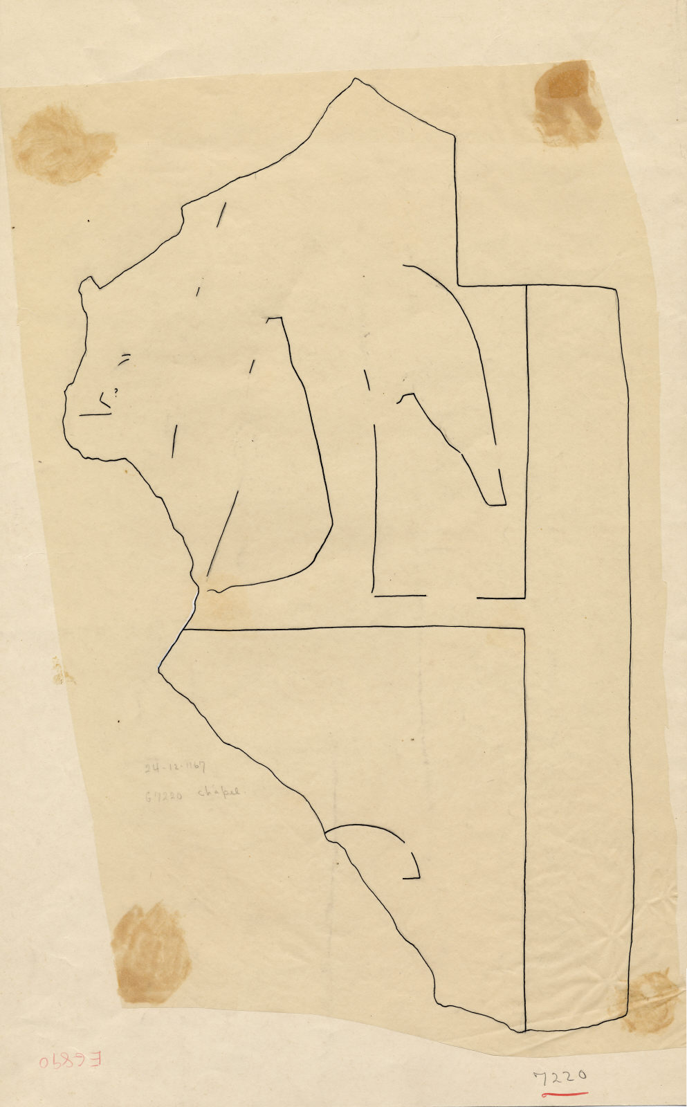 Drawings: Street G 7200, G 7220: fragment of relief