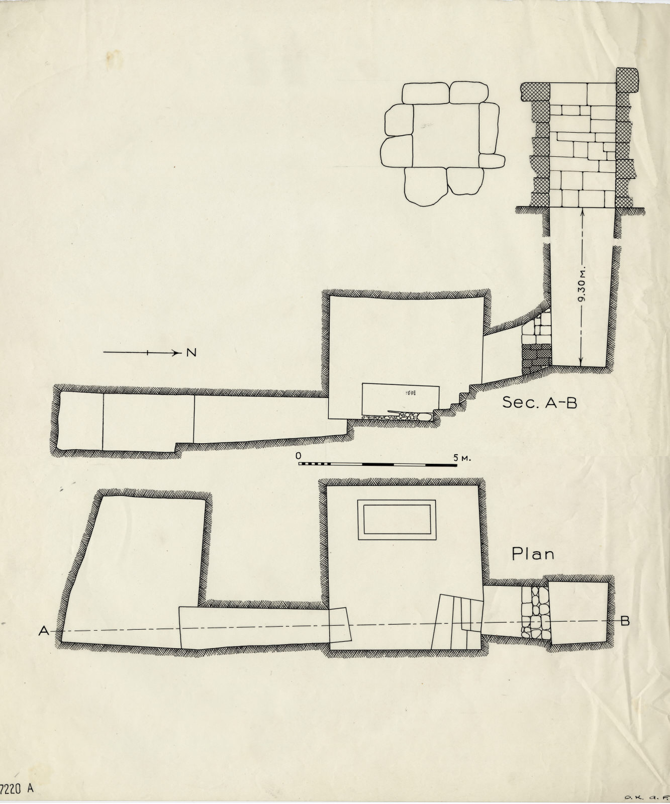 Maps and plans: G 7220, Shaft A