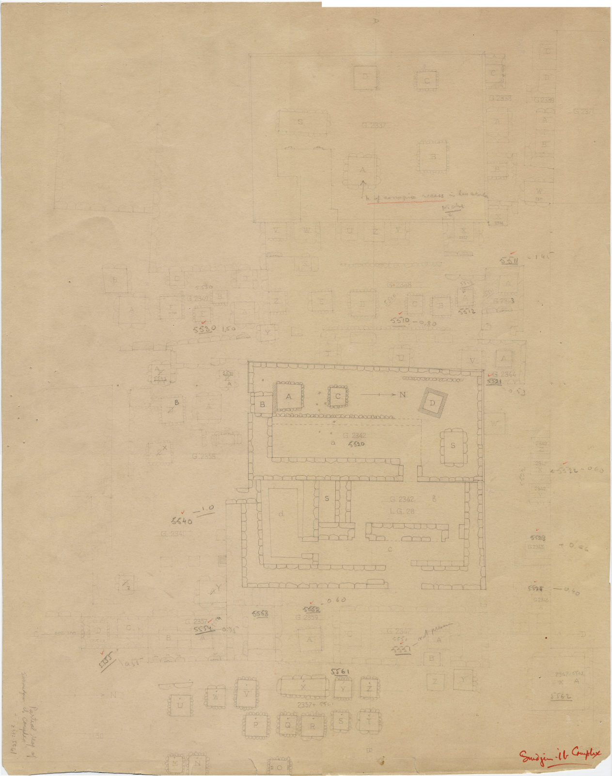 Maps and plans: Plan of Cemetery En Echelon (partial)
