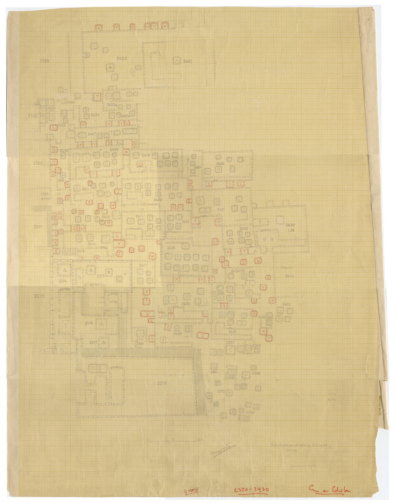 Maps and plans: Plan of Cemetery En Echelon