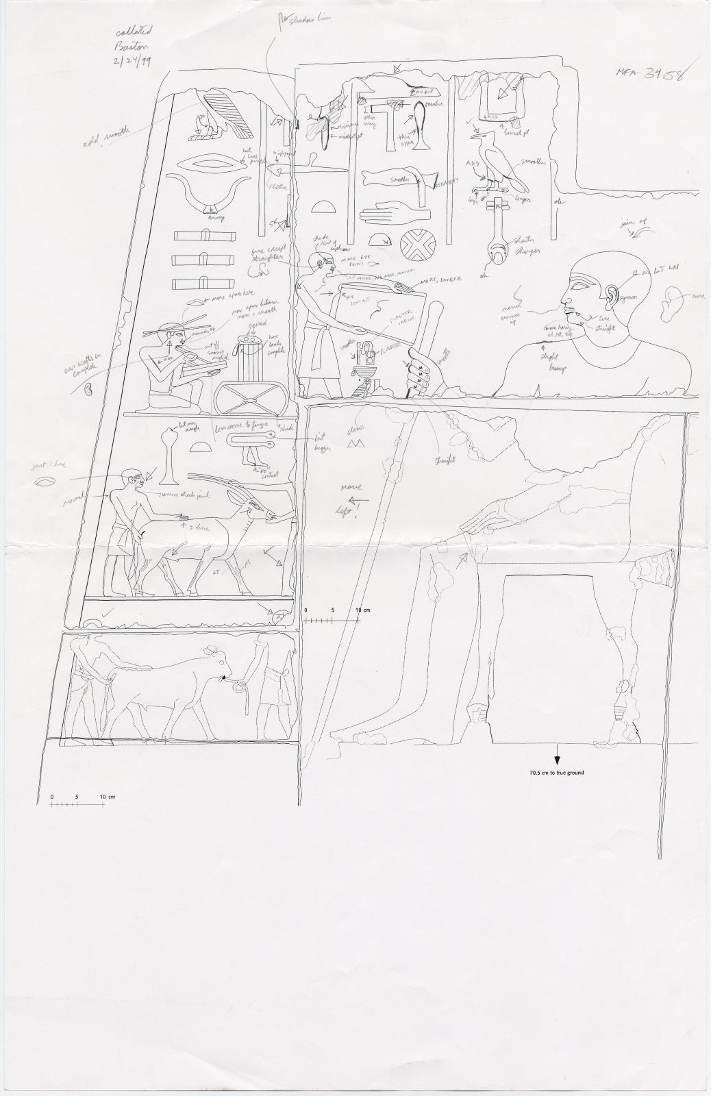Drawings: G 2150: relief from door jamb