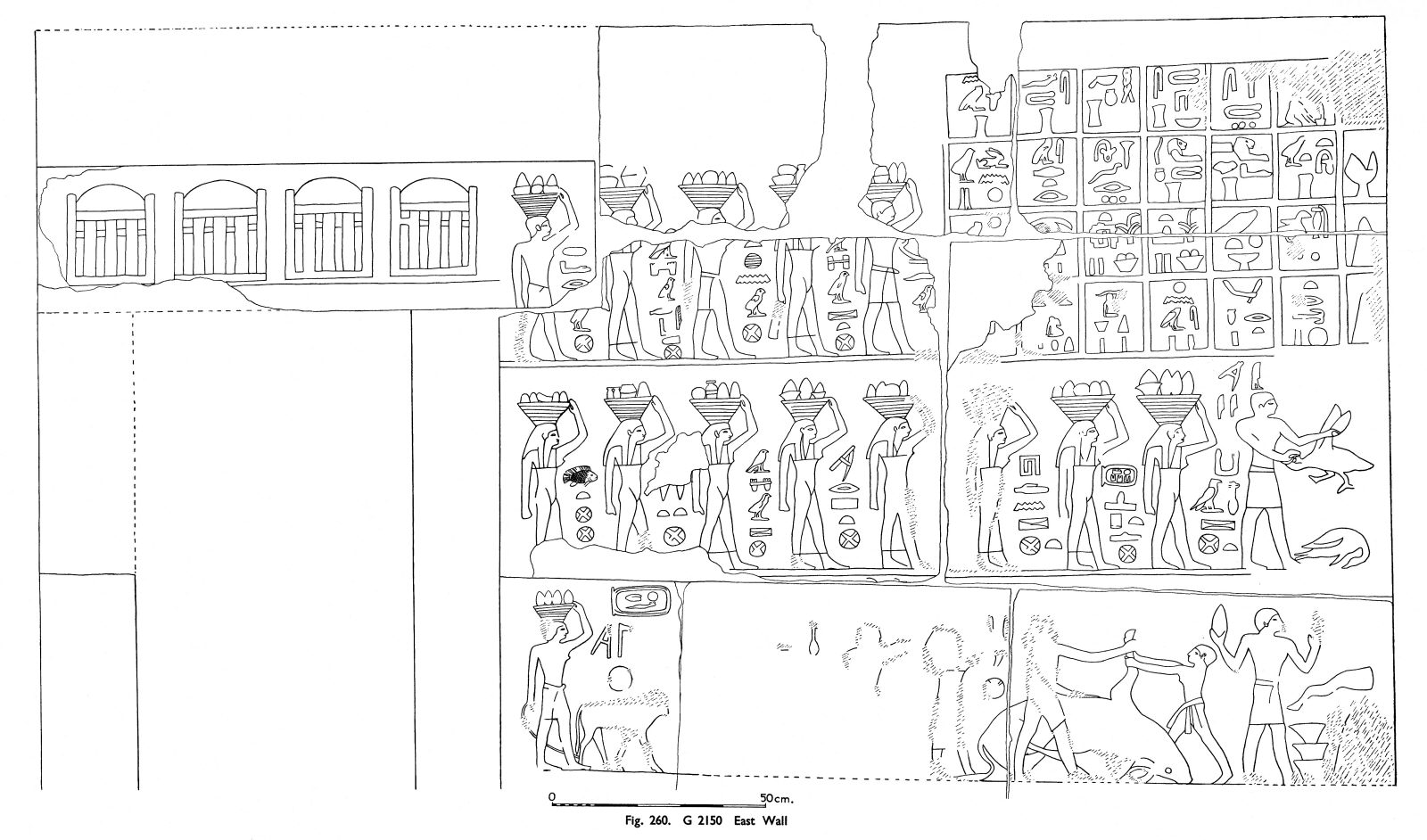 Drawings: G 2150: relief from interior chapel (room a), E wall