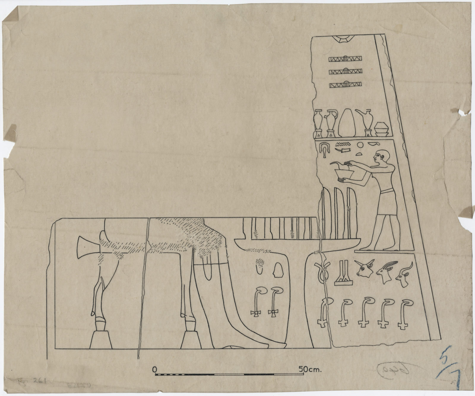 Drawings: G 2150: relief from entrance, N jamb