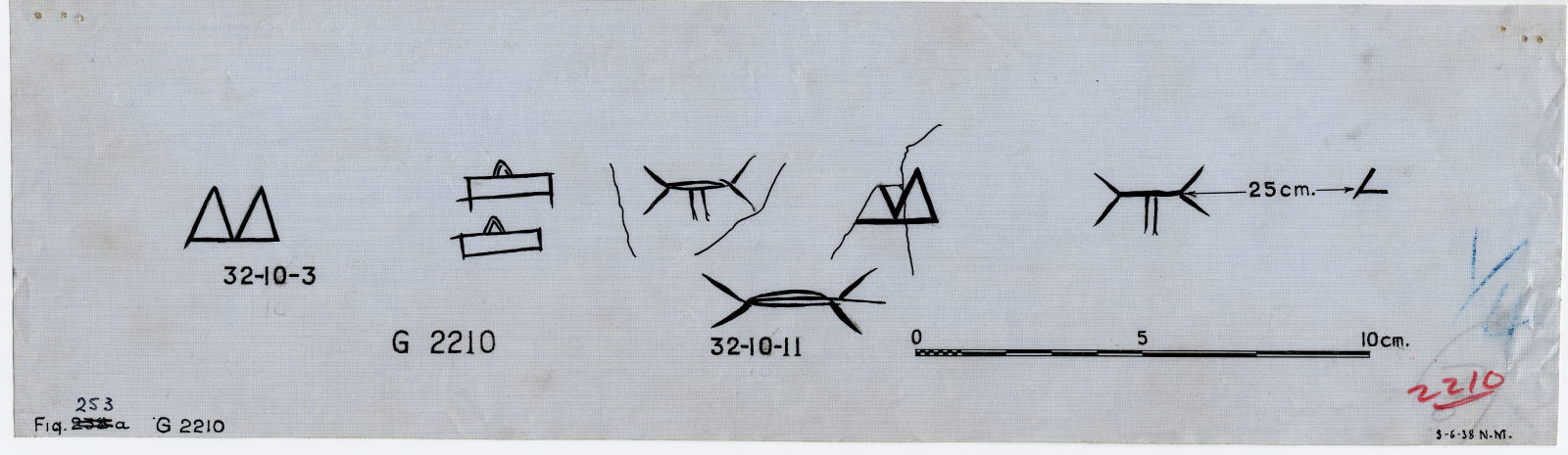 Drawings: G 2210, Shaft A: potter's marks on fragments of wine jars