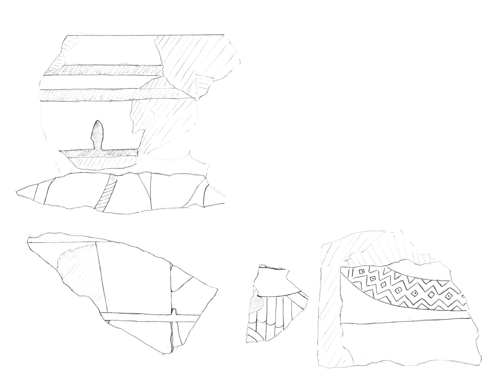 Drawings: G 2210: fragments of relief