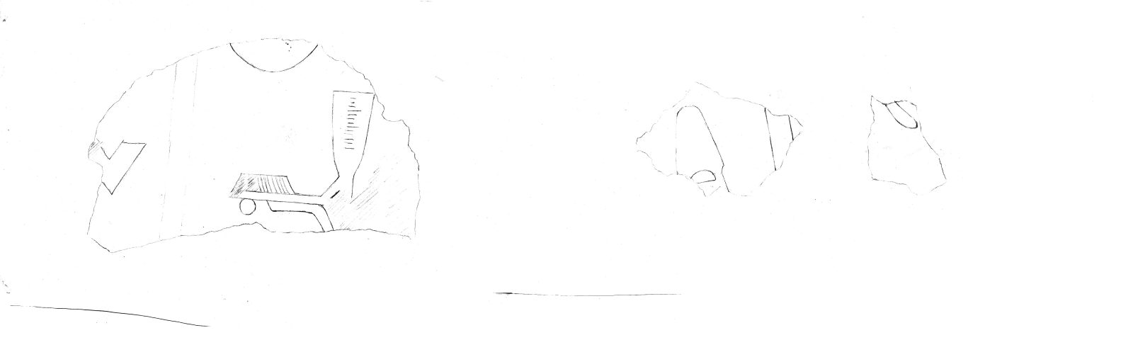 Drawings: G 2111, Shaft C: fragments of relief
