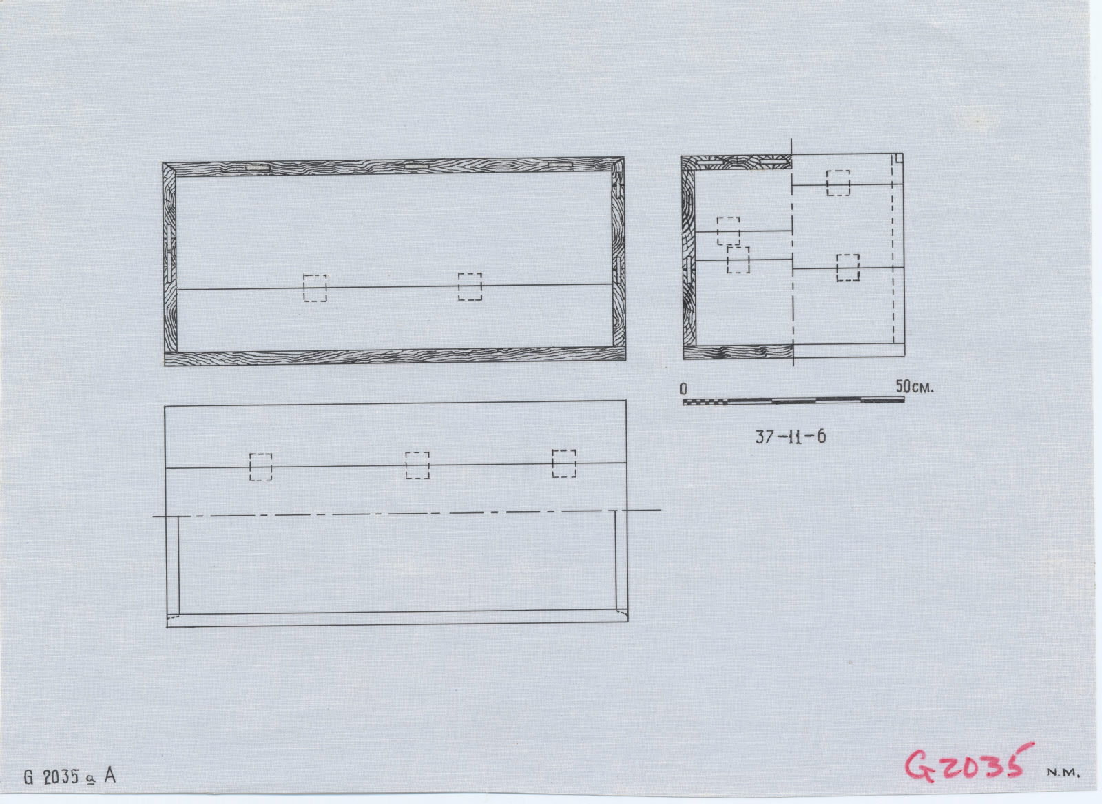 Drawings: G 2035a, Shaft A: coffin