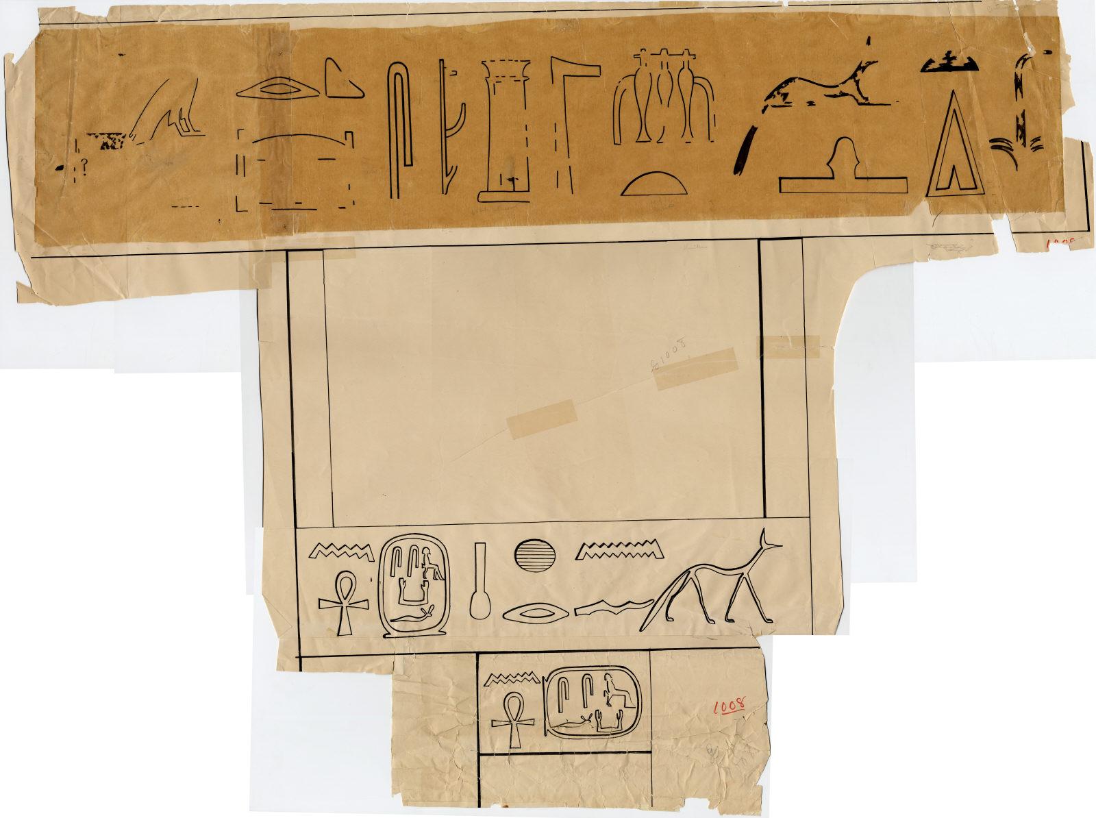 Drawings: G 1008: false door