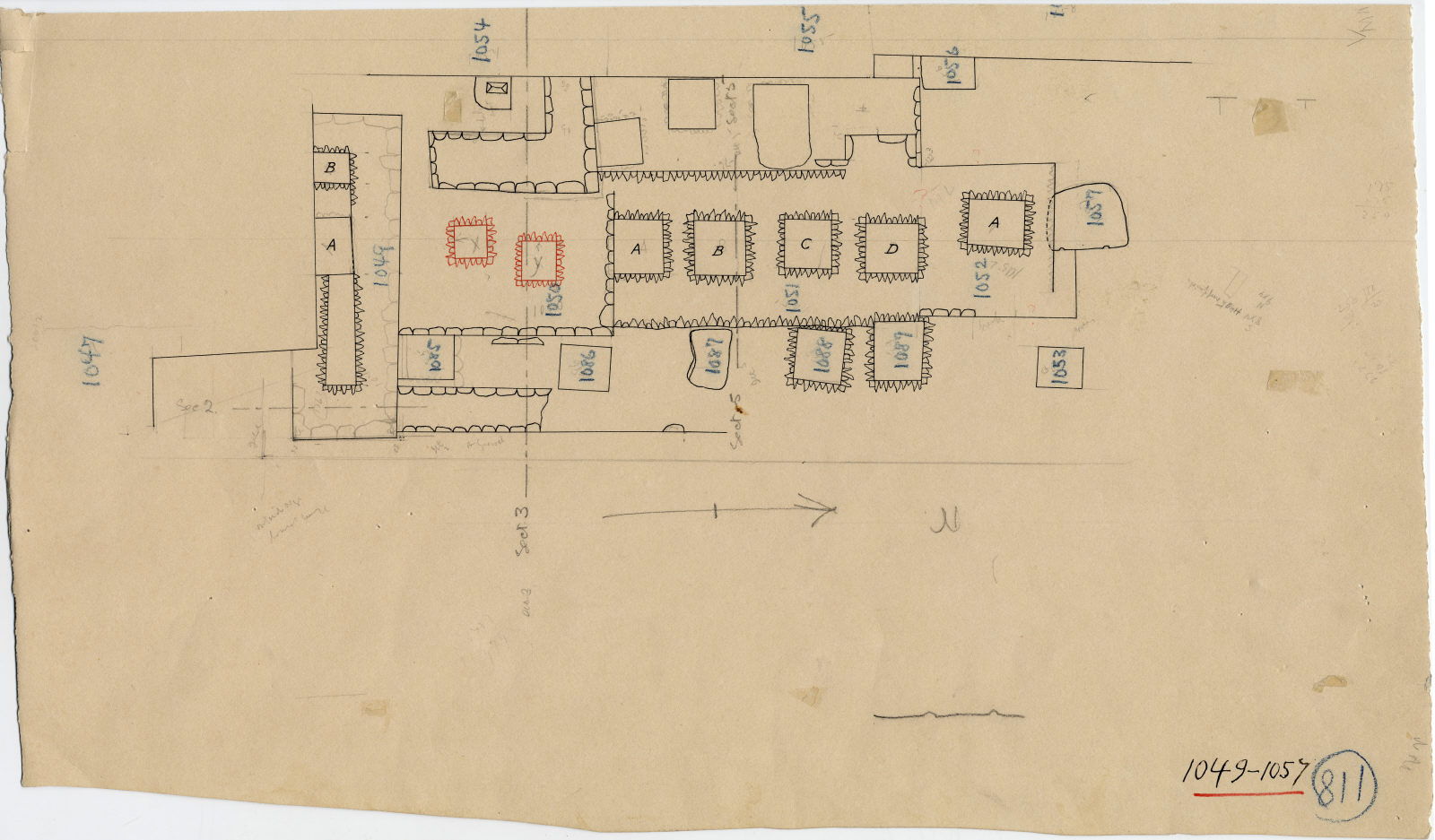 Maps and plans: Plan of G 1047, G 1049, G 1050, G 1051, G 1052, G 1053, G 1054, G 1055, G 1056, G 1057, G 1085, G 1086, G 1087, G 1088, G 1089