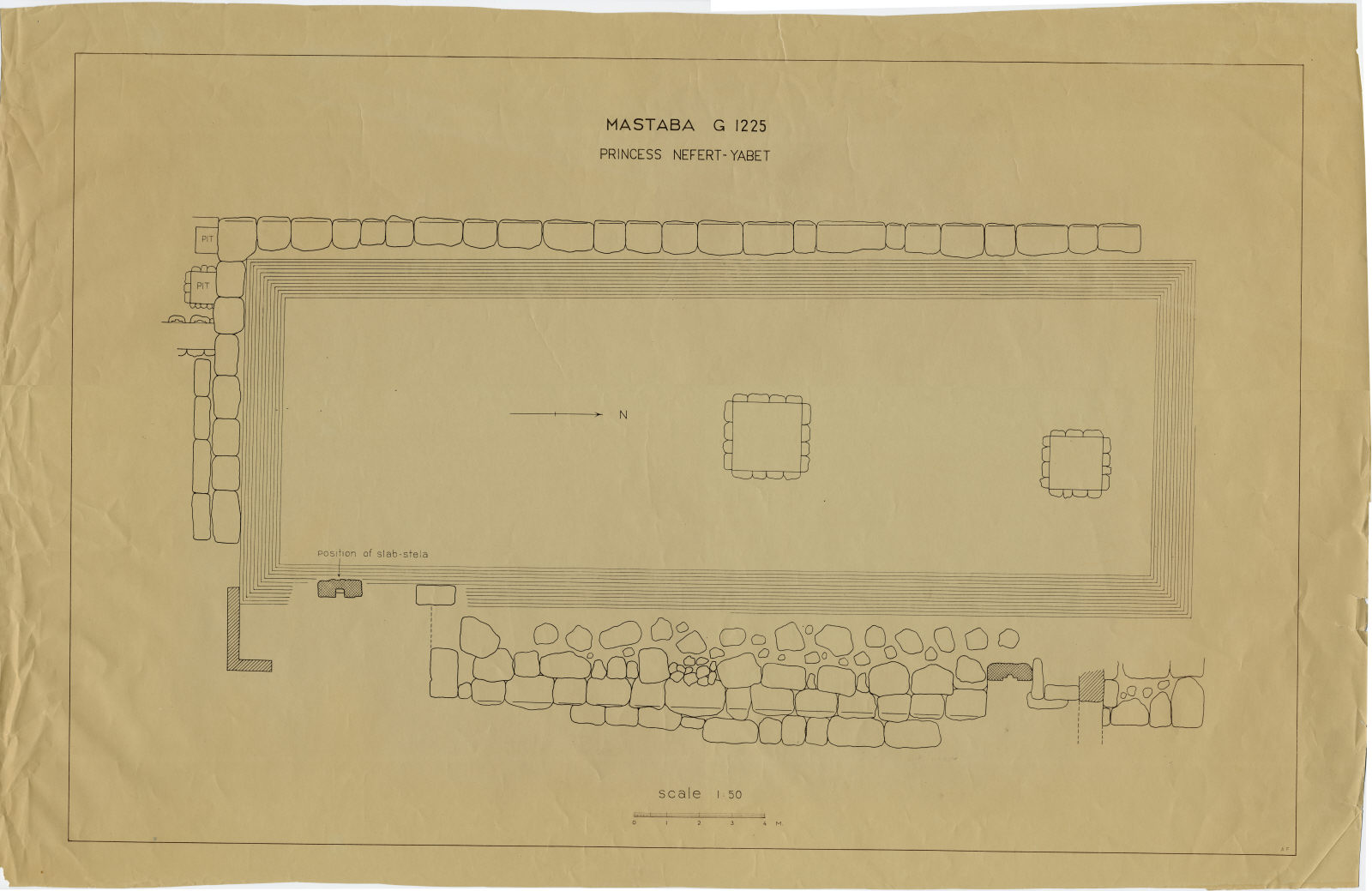 Maps and plans: Plan of G 1225 and G 1225-Annex