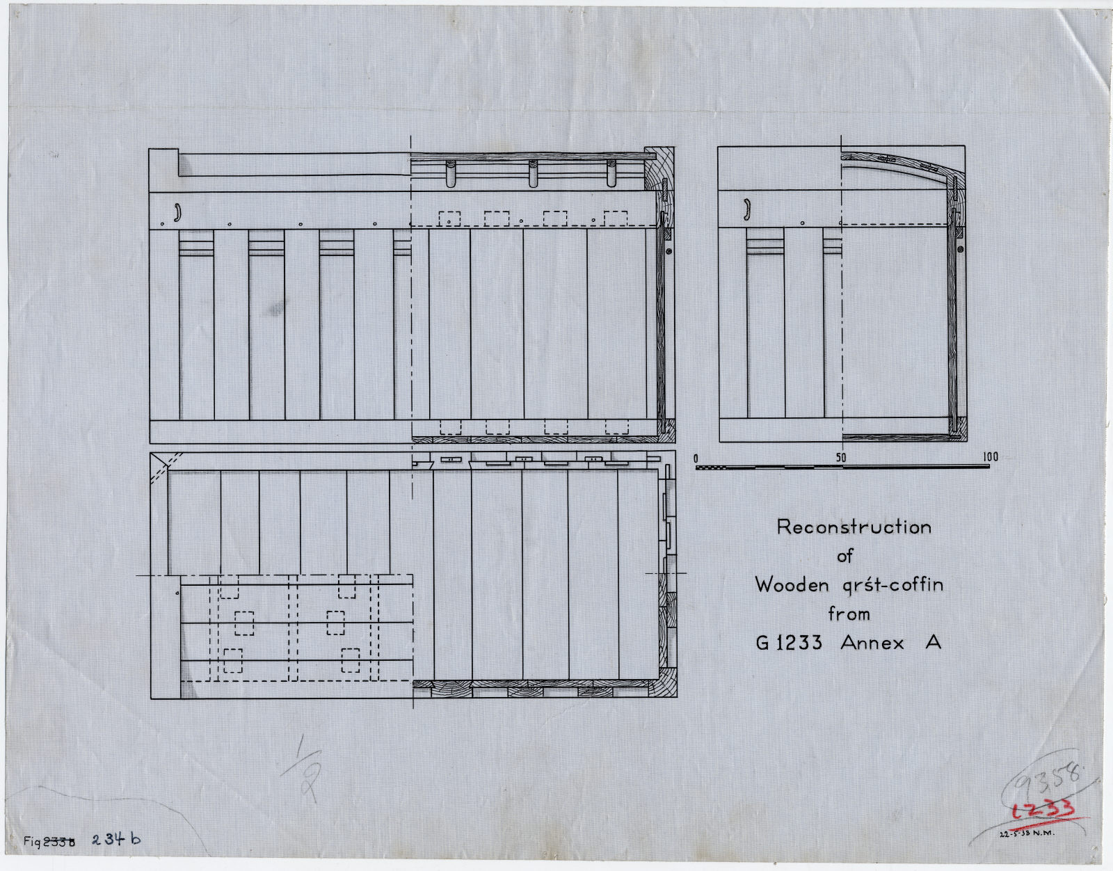 Drawings: G 1233-Annex, Shaft A: coffin