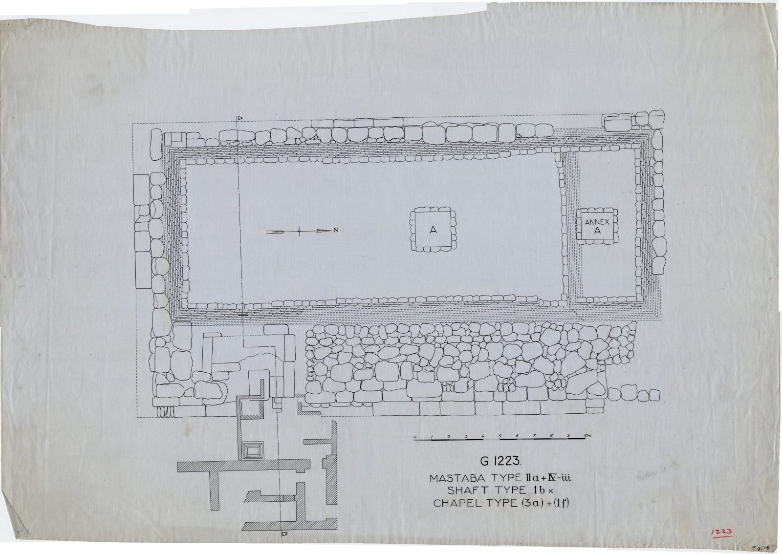 Maps and plans: Plan of G 1223 and G 1223-Annex