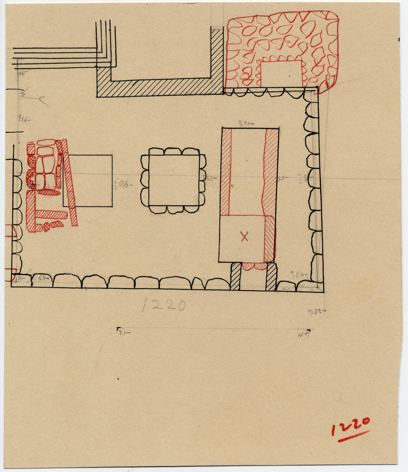 Maps and plans: Plan of G 1220