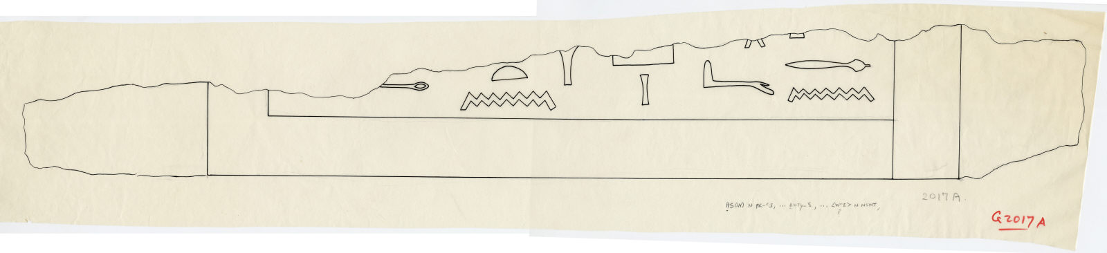 Drawings: G 2017, Shaft A: fragment of drum lintel