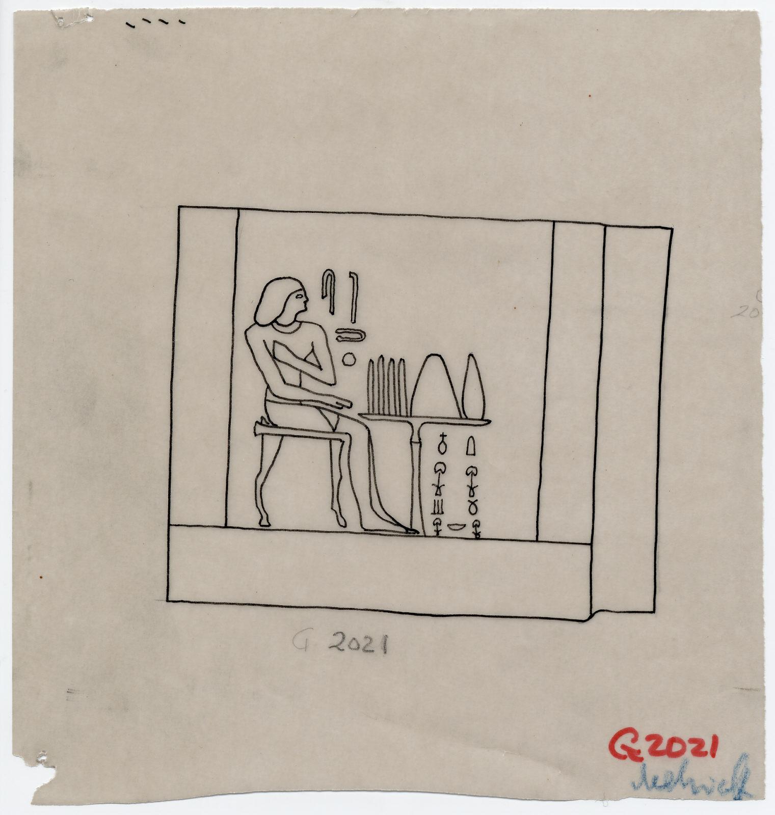 Drawings: G 2021c: false door tablet