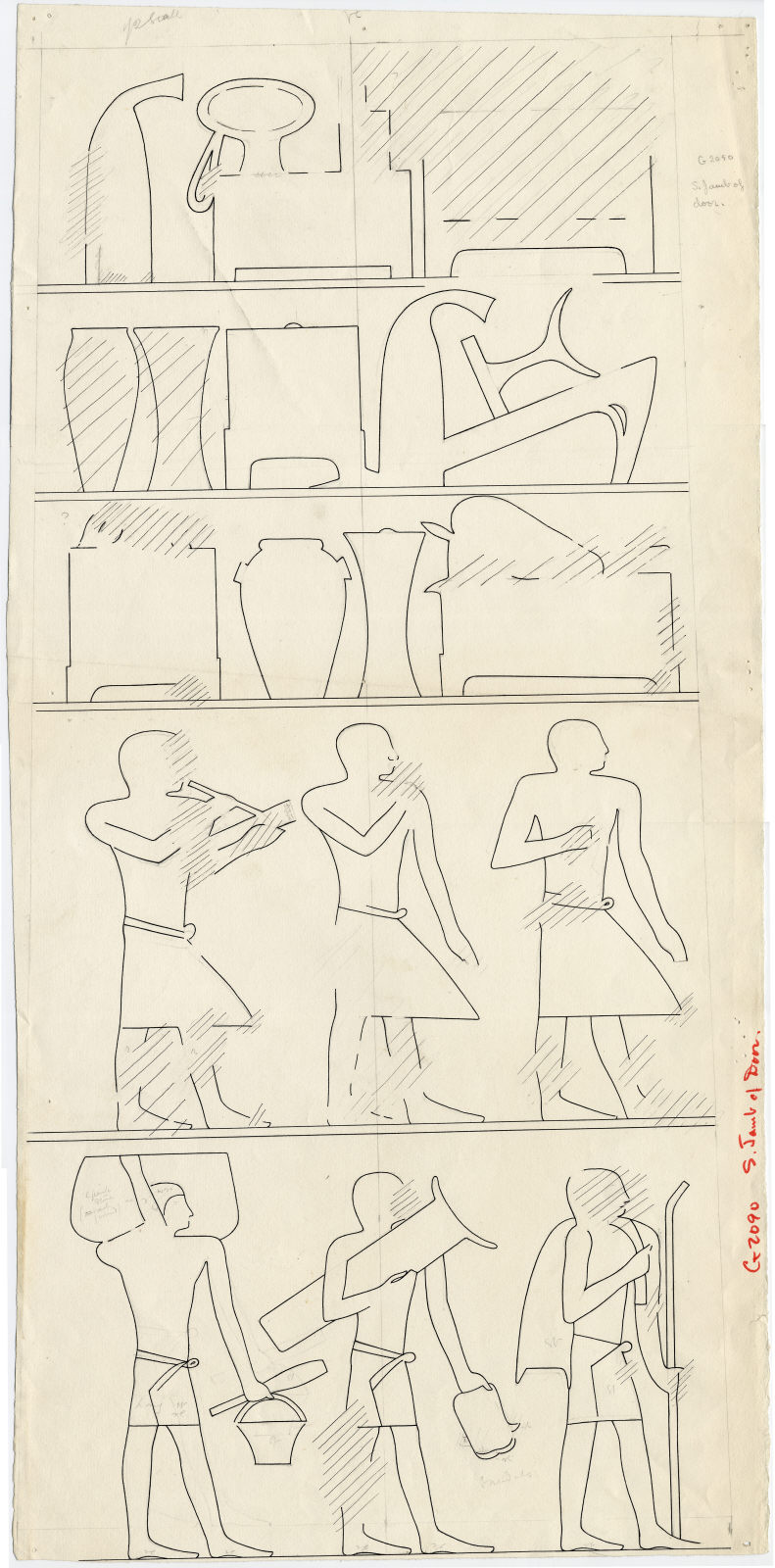 Drawings: G 2091: relief from S pilaster