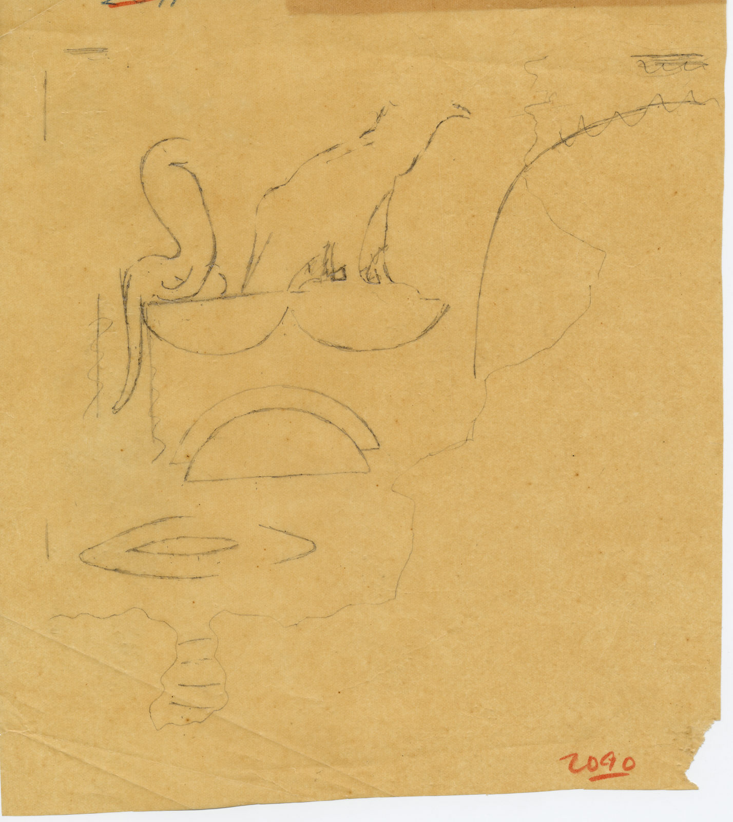 Drawings: G 2091: fragment of relief
