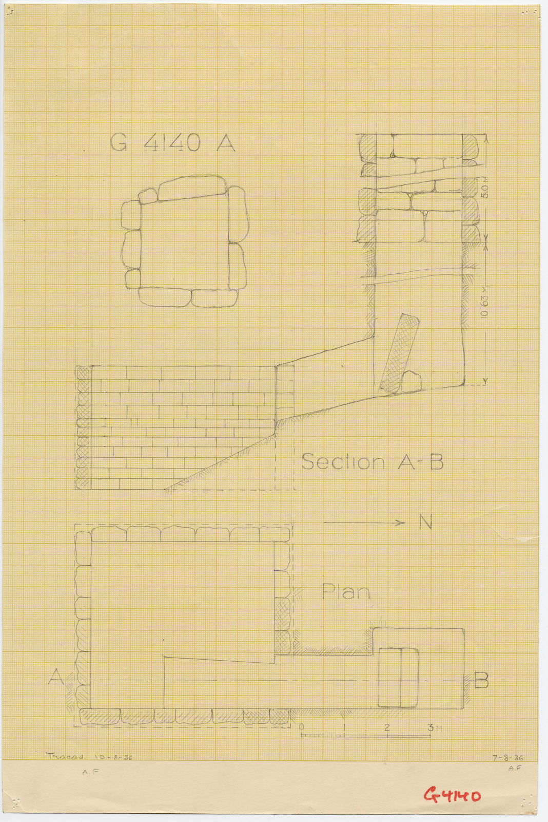 Maps and plans: G 4140, Shaft A