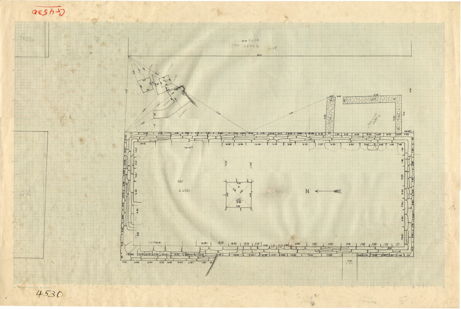 Maps and plans: Plan of G 4530, with positions of G 4540, G 4630, G 4640