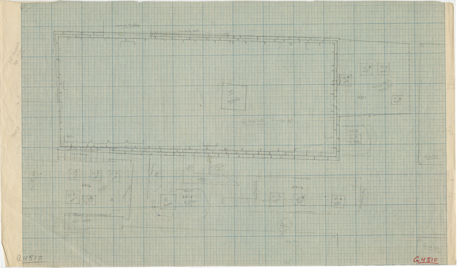 Maps and plans: Plan of G 4510, with positions of G 4511, G 4514, G 4515, G 4516, G 4518, G 4520, G 4610, G 4620