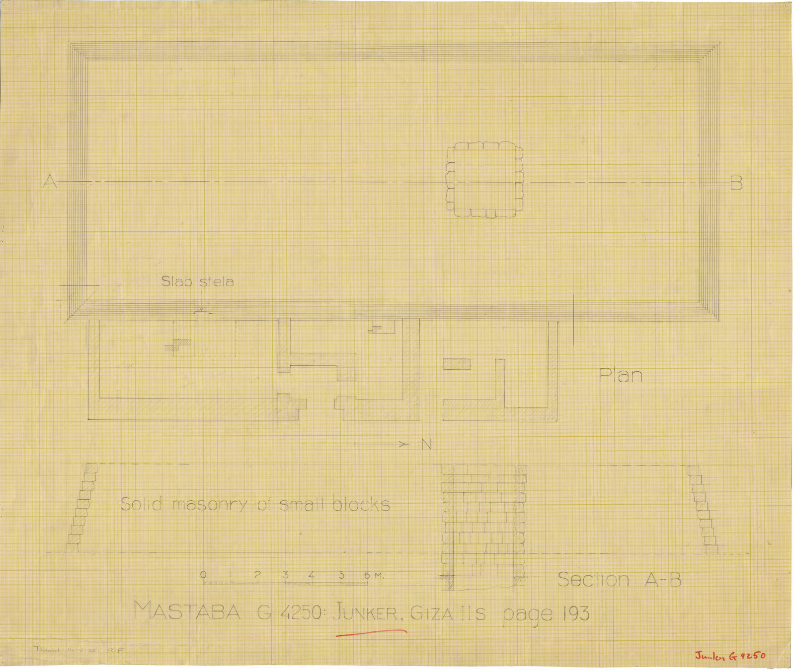 Maps and plans: G 4250, Plan and section
