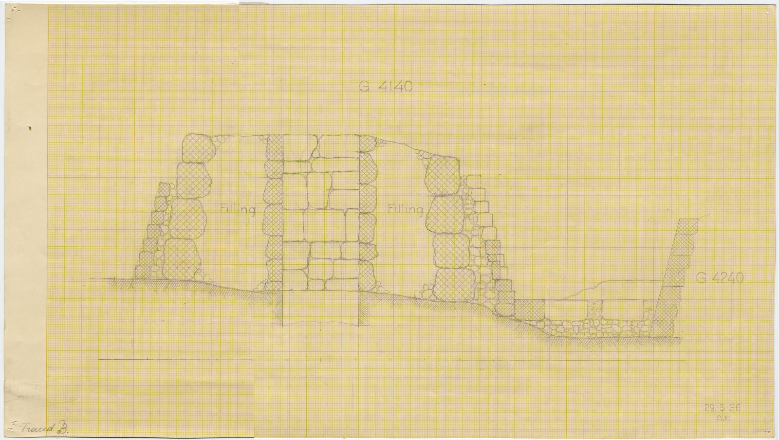 Maps and plans: Section of G 4140, with position of G 4240
