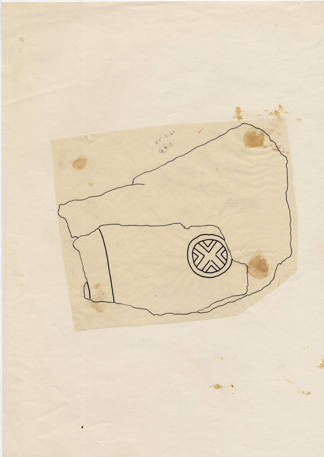 Drawings: G 7510: fragments of relief