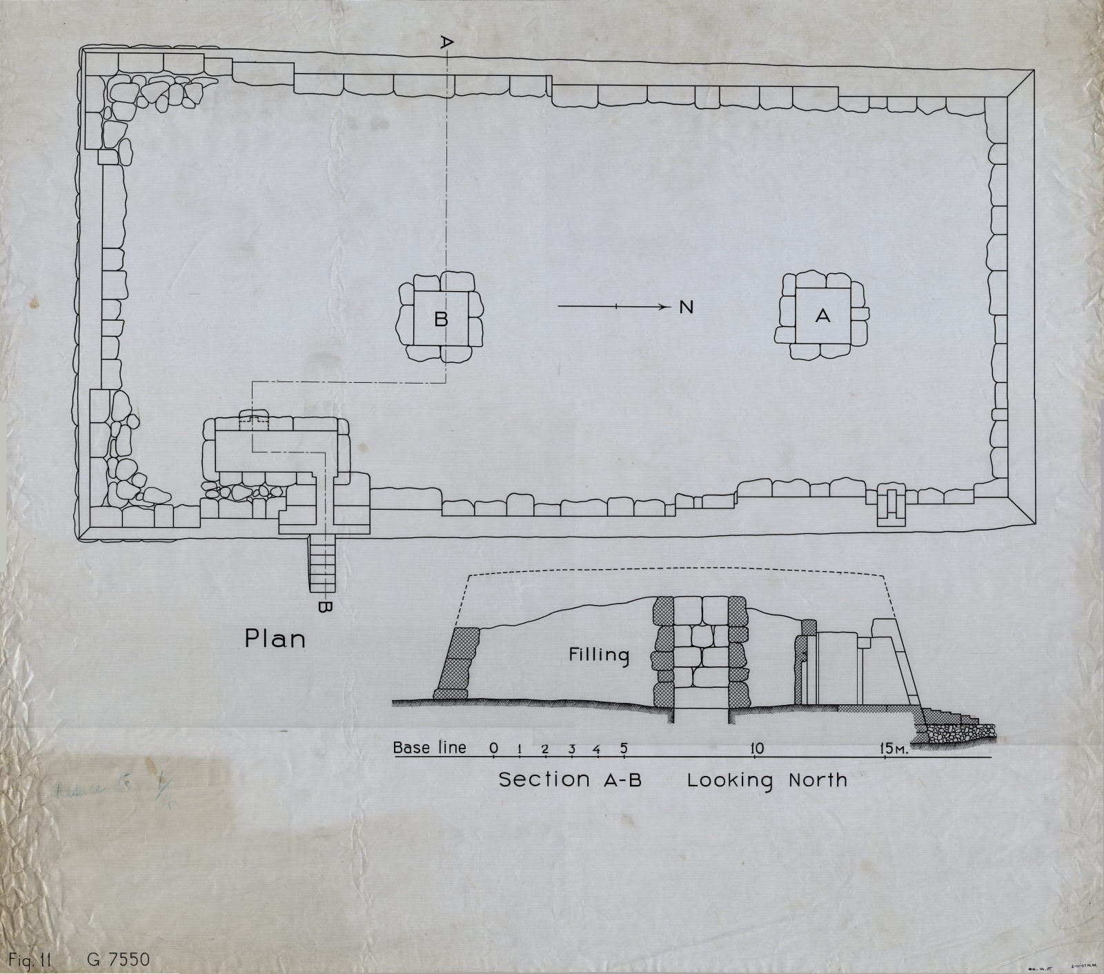 Maps and plans: G 7550, Plan and section