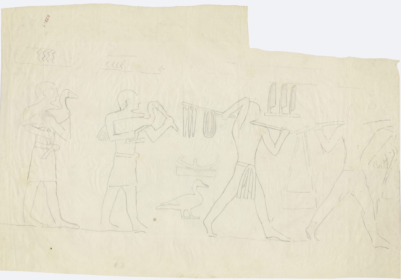 Drawings: G 7650: relief from interior chapel (room a), N wall