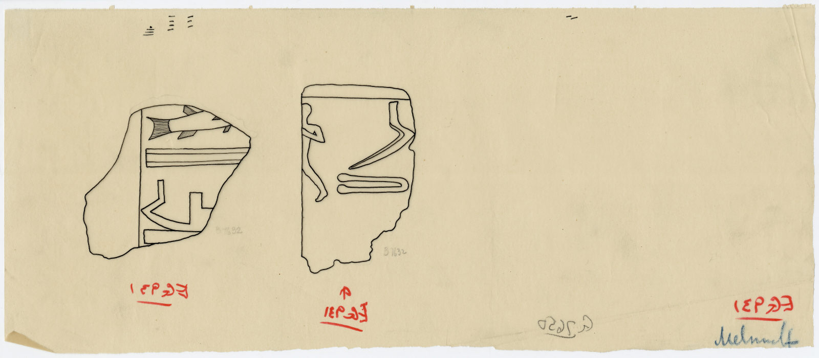 Drawings: G 7650: fragments of relief