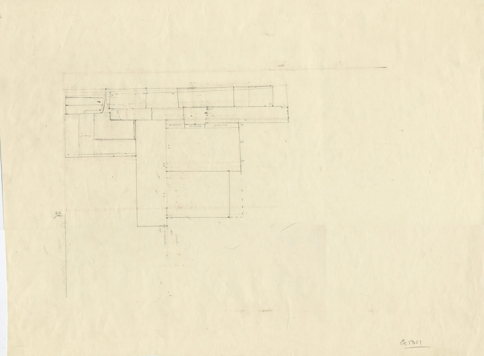 Maps and plans: G 1301: blocks of W wall