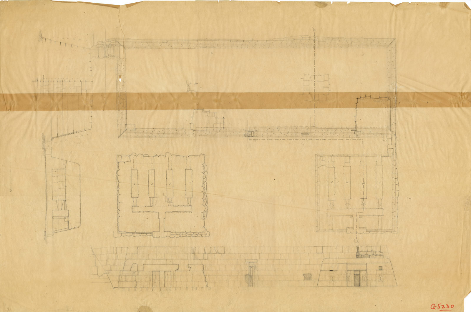 Maps and plans: G 5230, Plan and section