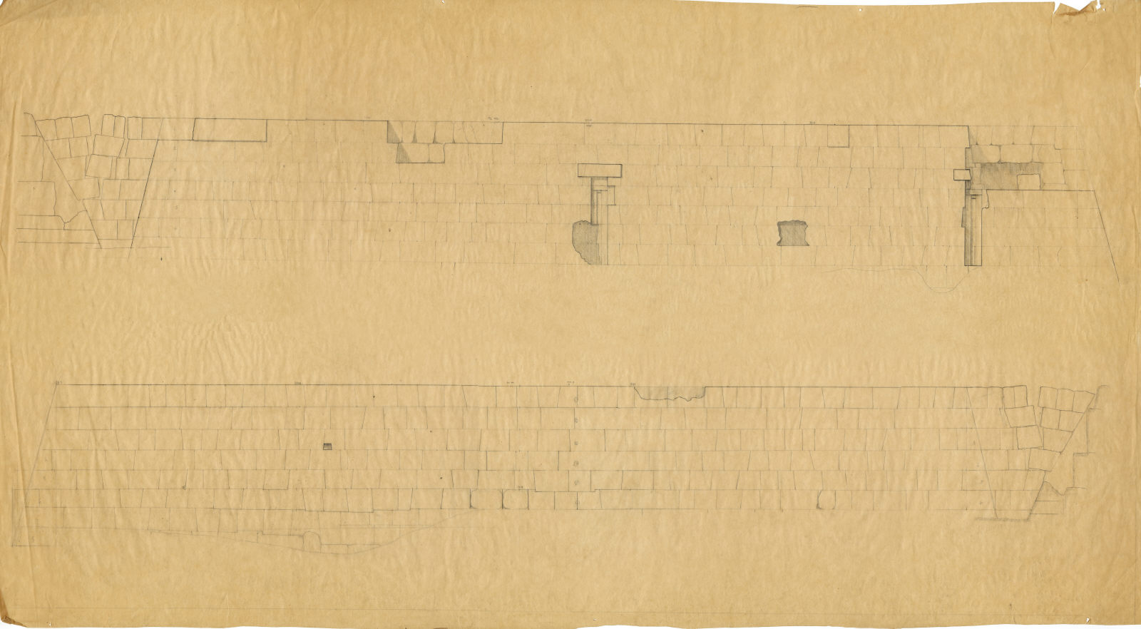 Maps and plans: G 5230: E facade and W side (?)