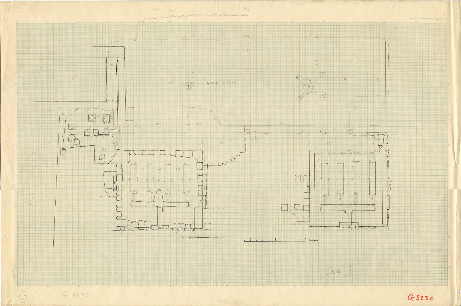 Maps and plans: Plan of G 5230, with positions of G 5110 and G 5220