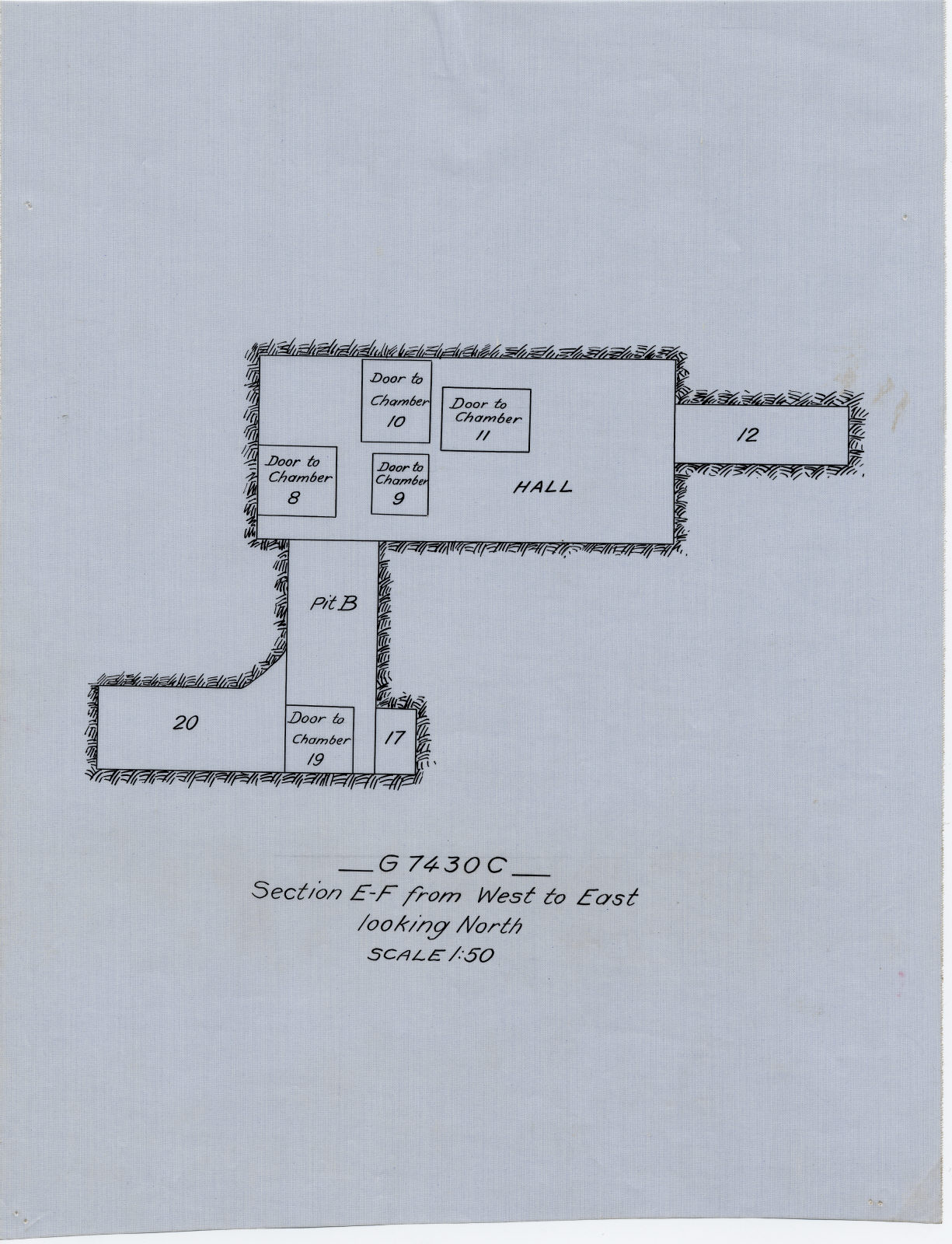 Maps and plans: G 7430, Shaft C