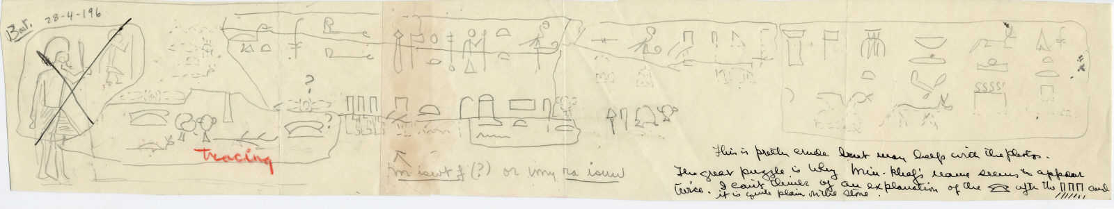 Drawings: Fragments of lintel of Minkhaf from Street G 7500 and G 7430-7440