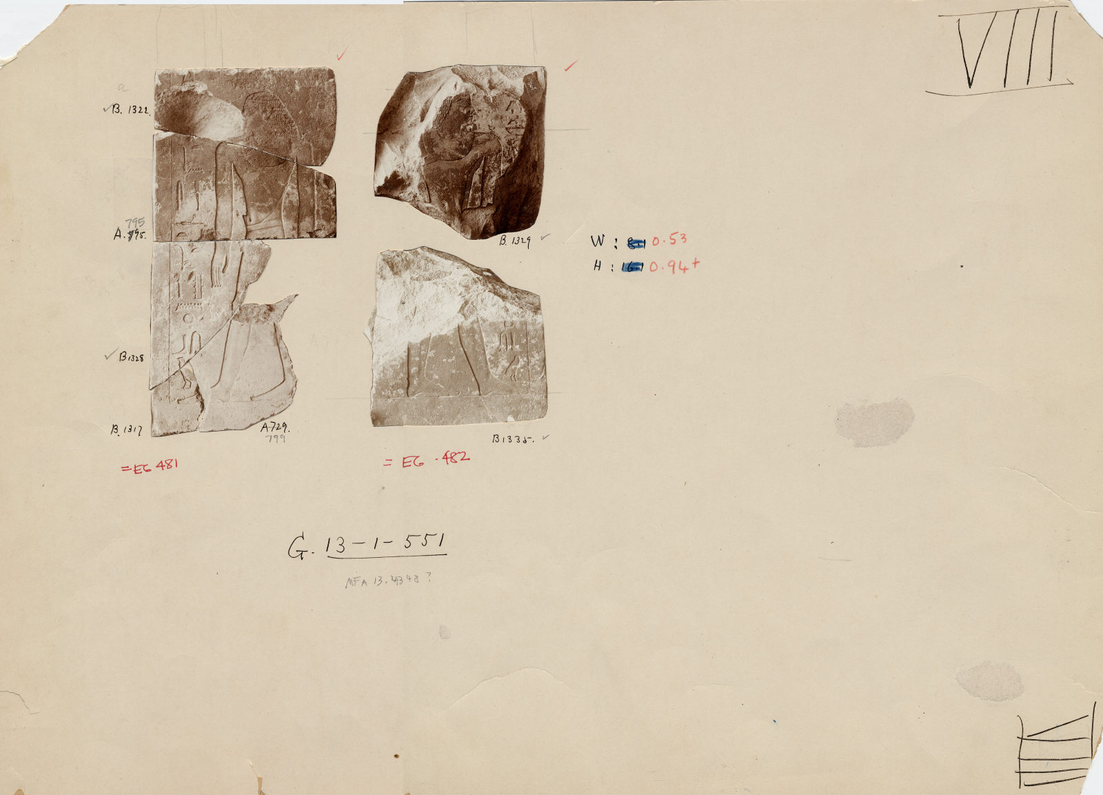Drawings: G 2381: relief jambs