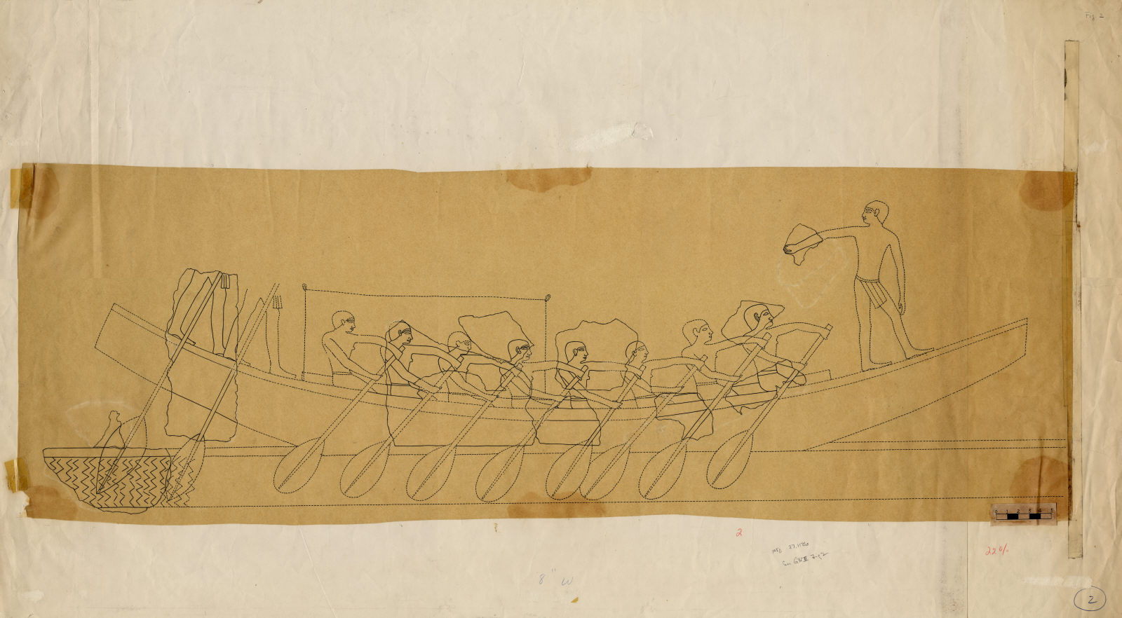 Drawings: Street G 7000: relief, boating scene