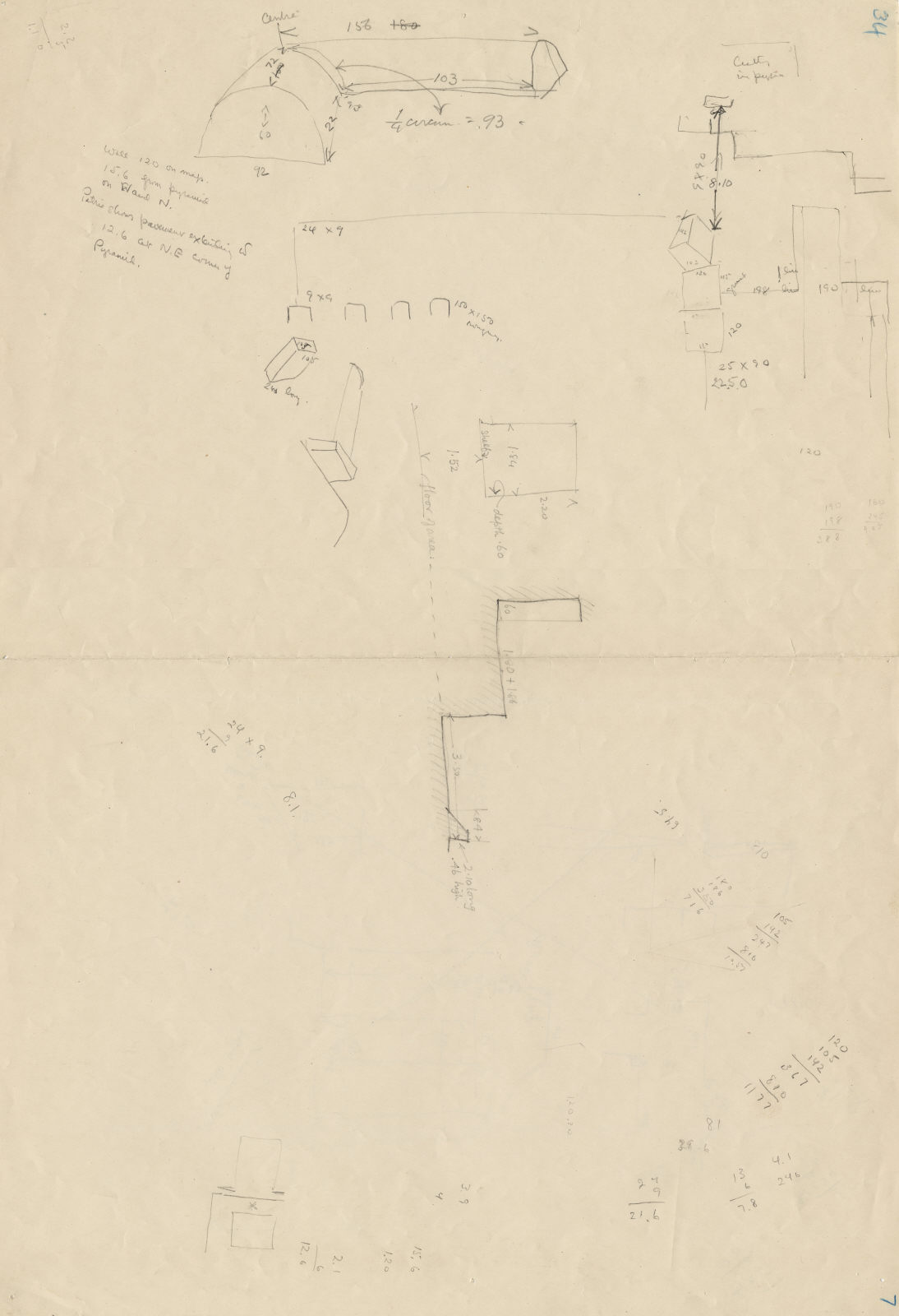 Maps and plans: Enclosure Wall: rounded top
