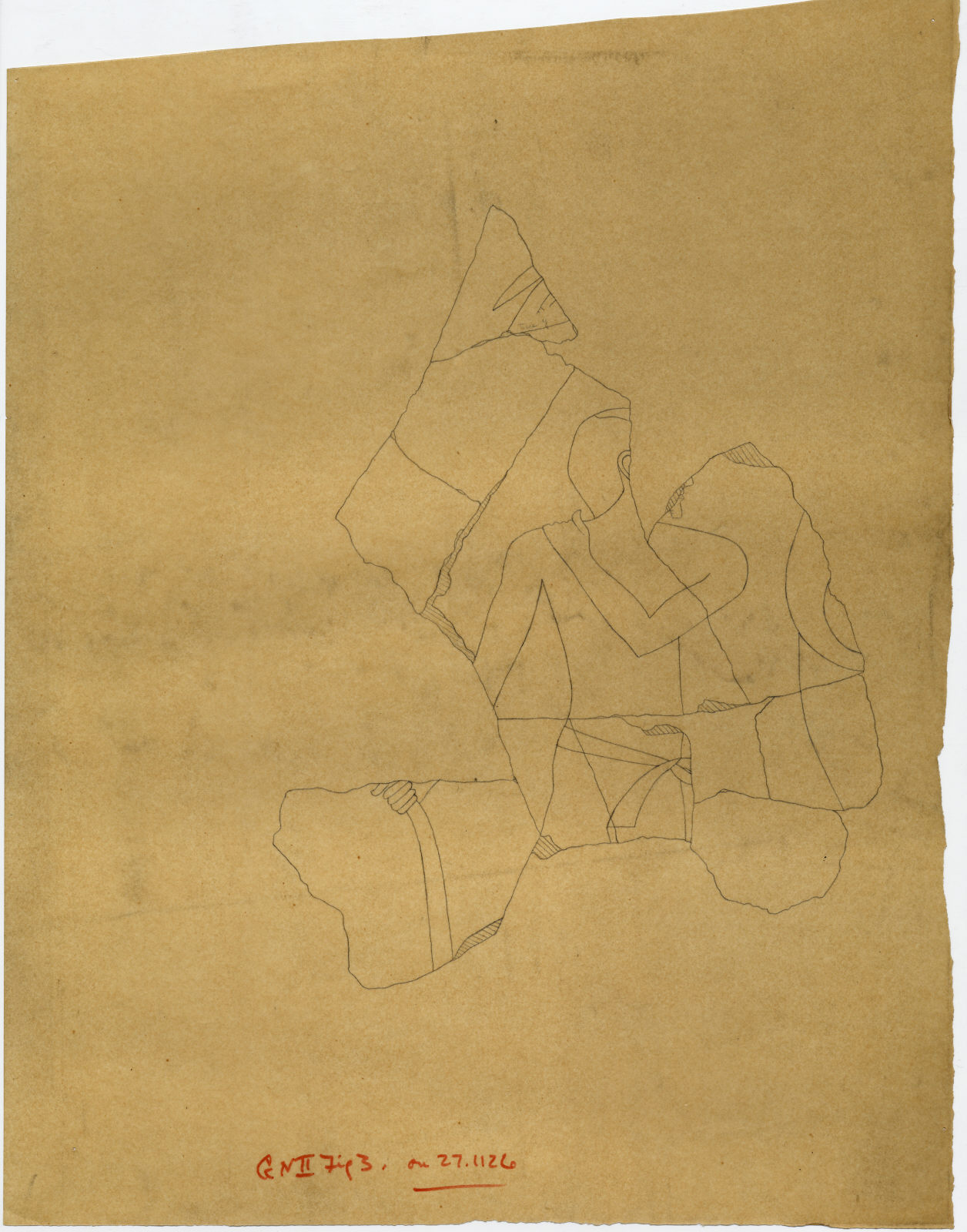 Drawings: Street G 7000: fragments of relief