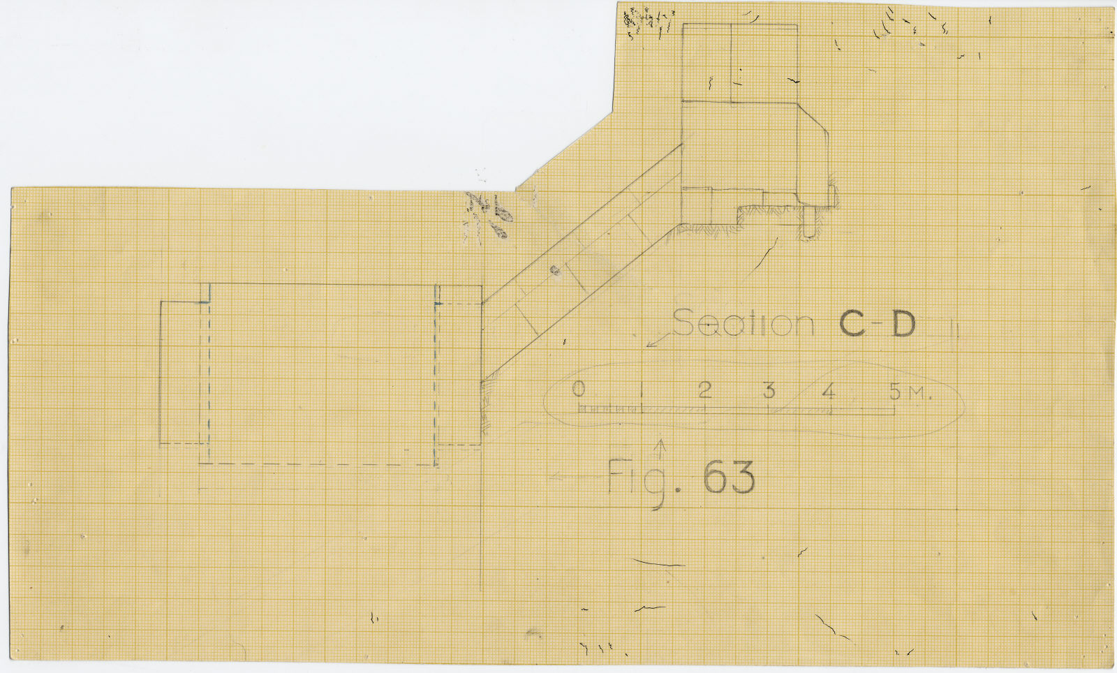 Maps and plans: G I-a burial chamber, Section