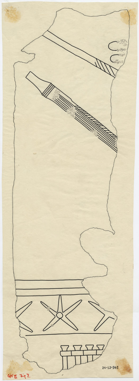 Drawings: Avenue G 1: fragment of relief