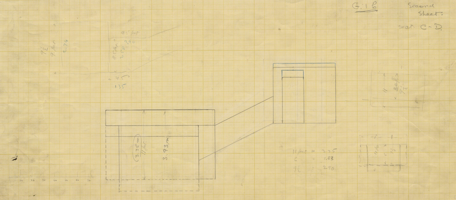 Drawings: G I-b burial chamber, Section