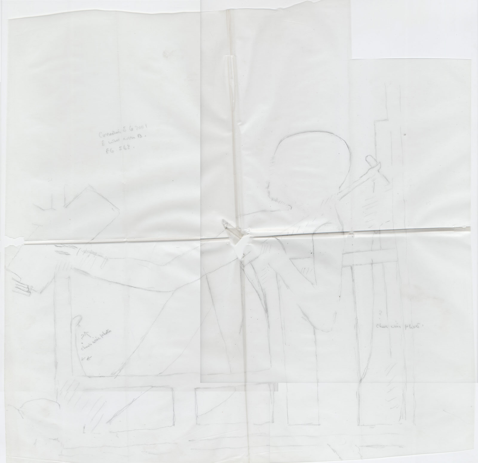 Drawings: G 7101: relief from inner room (room D), E wall, correction